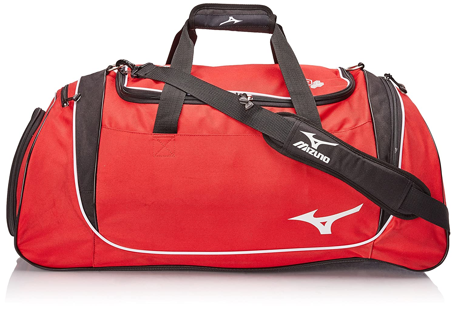 Mizuno Team Duffle Bag, 26 x 14 x 14, Red/Black 26 x 14 x 14 360169.1090.01.0000