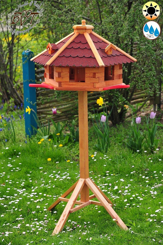 massivholz vogelhaus 3x landestation rot gro xl mit landebahn bitumen massivholz. Black Bedroom Furniture Sets. Home Design Ideas
