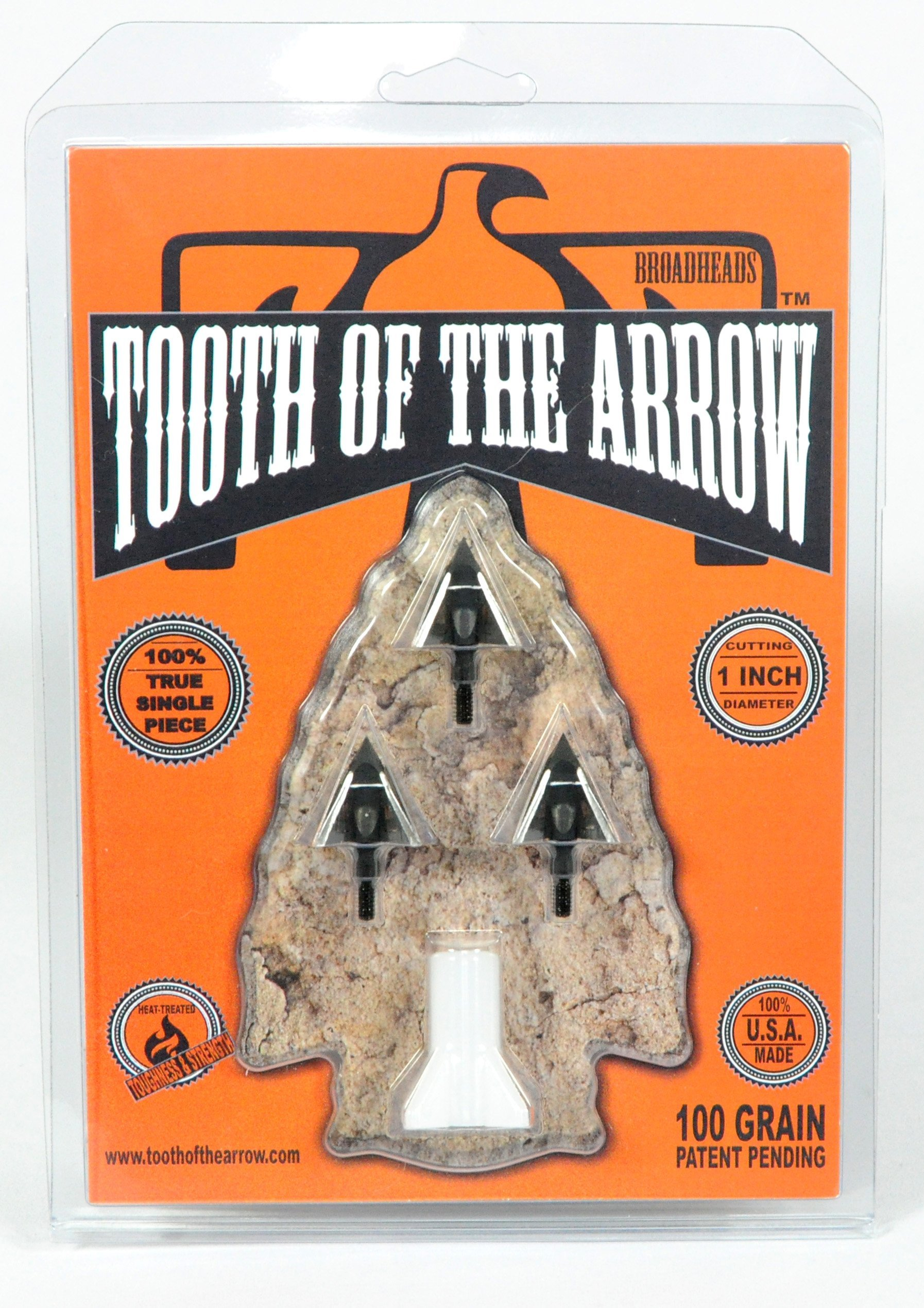 Tooth Of The Arrow Broadheads (3 Pack), Black, 100 Grain by Tooth Of The Arrow