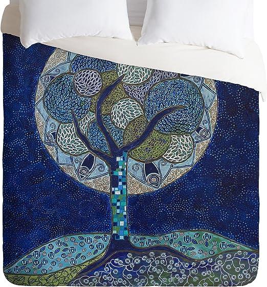 50 x 60 Deny Designs Ruby Door Moon In Bloom Fleece Throw Blanket
