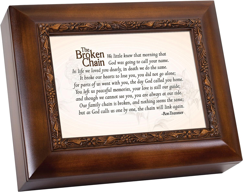 Cottage Garden Broken Chain Little Knew God Goin Woodgrain Embossed Ashes Bereavement Urn Box