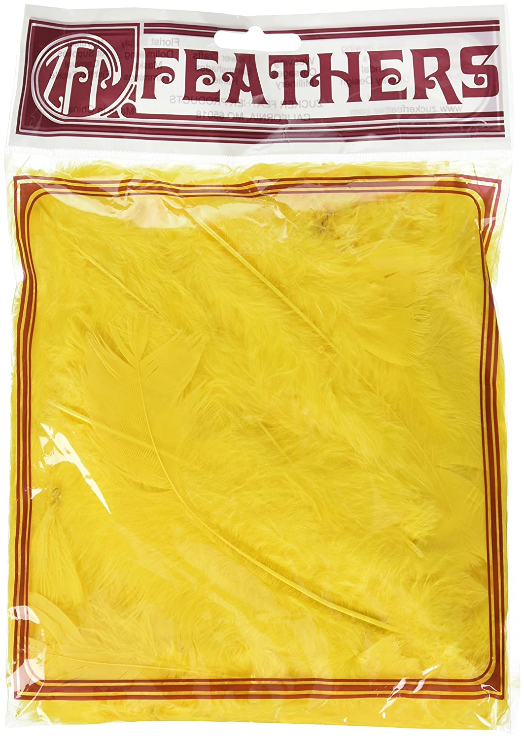 Zucker Feather (TM) - Loose Turkey Flats Dyed - Yellow Zucker Feather Products WG28--W