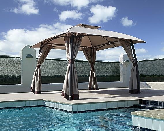 Grand patio Gazebo Exterior Impermeable, 3.3 x 3.3 m. para Camping ...