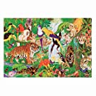 """Melissa & Doug Rainforest Floor Puzzle (Easy-Clean Surface, Promotes Hand-Eye Coordination, 48 Pieces, 24"""" L x 36"""" W, Great Gift for Girls and Boys - Best for 3, 4, 5, and 6 Year Olds)"""