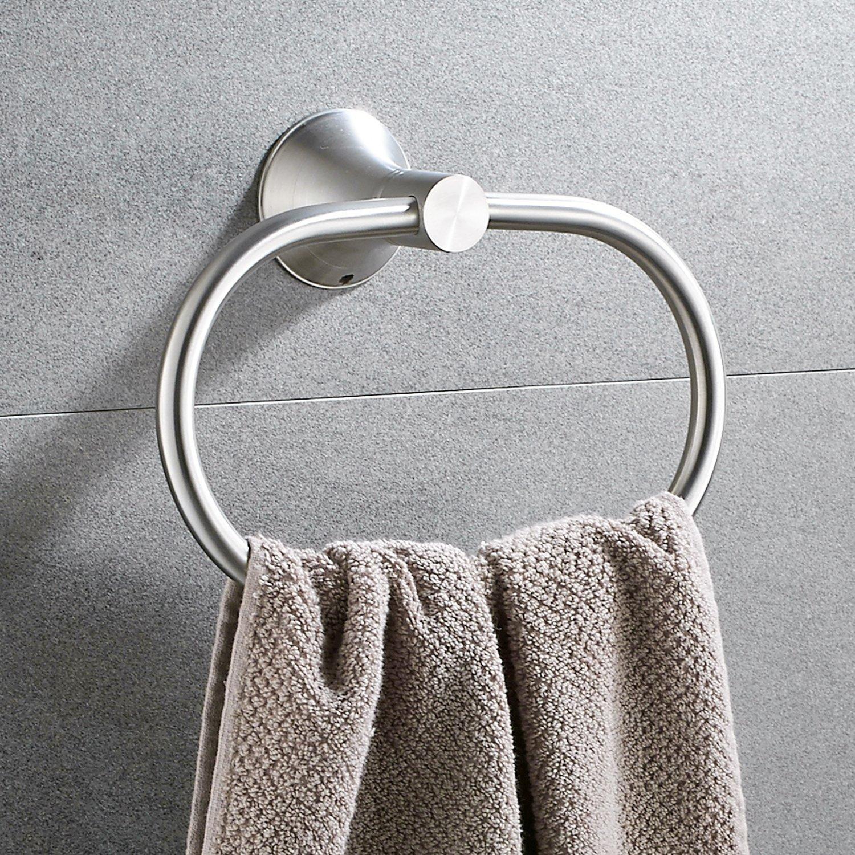 Bath Towel Ring Holder Bathroom Shower Hand Towel Ring Hanger Kitchen Round Ring  Towel Rack Set