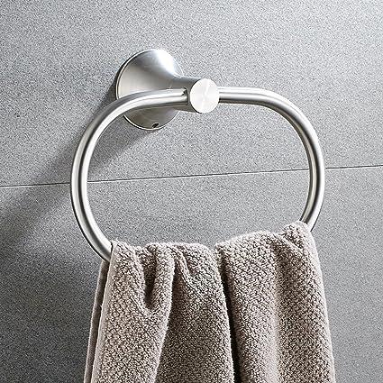 Amazon.com: Bath Towel Ring Holder Bathroom Shower Hand Towel Ring on towel caddy for bathrooms, towel rings for bathrooms, soap dispensers for bathrooms, glass shelves for bathrooms, hand towel stands for bathrooms, soap holders for bathrooms, hooks for bathrooms, paper towel dispensers for bathrooms, heated towel rails for bathrooms, toilet paper holders for bathrooms, comb holders for bathrooms,