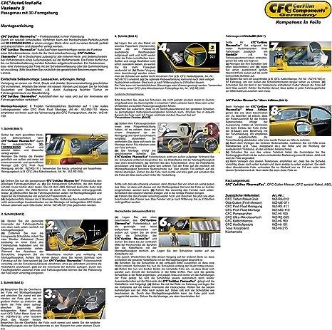 Passgenaue T/önungsfolien Schwarz HP 85 Lichtdurchl/ässigkeit 15/% W/ärmer/ückweisung 55/% 3D Heckscheibenfolie vorgew/ölbt 3 D 50110