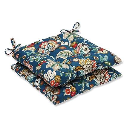 Amazon Com Pillow Perfect Outdoor Telfair Wrought Iron Seat Cushion