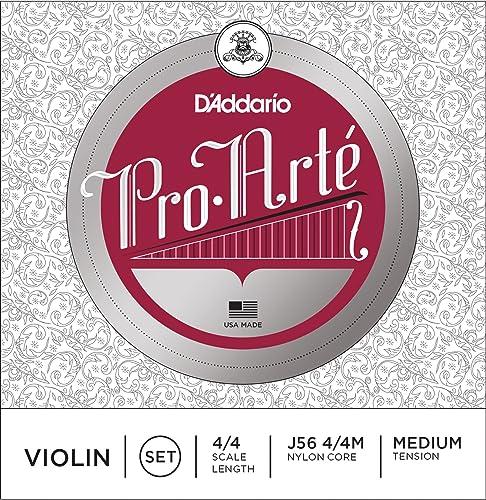 D'Addario J56 4/4M Pro-Arte Nylon violin Strings, Medium