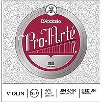 D'Addario Pro-Arte Violin String Set, 4/4 Scale, Medium Tension - J56 4/4M