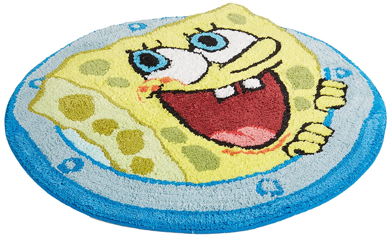 Spongebob squarepants bathroom accessories - Amazon Com Nickelodeon Spongebob Square Pants Set Sail Cotton Rug Home Kitchen