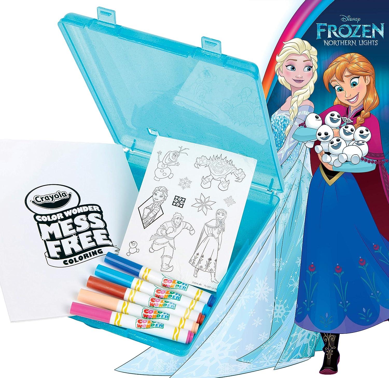 Crayola Frozen Color Wonder Mess Free Coloring Set, Travel Coloring Kit, Gift for Girls