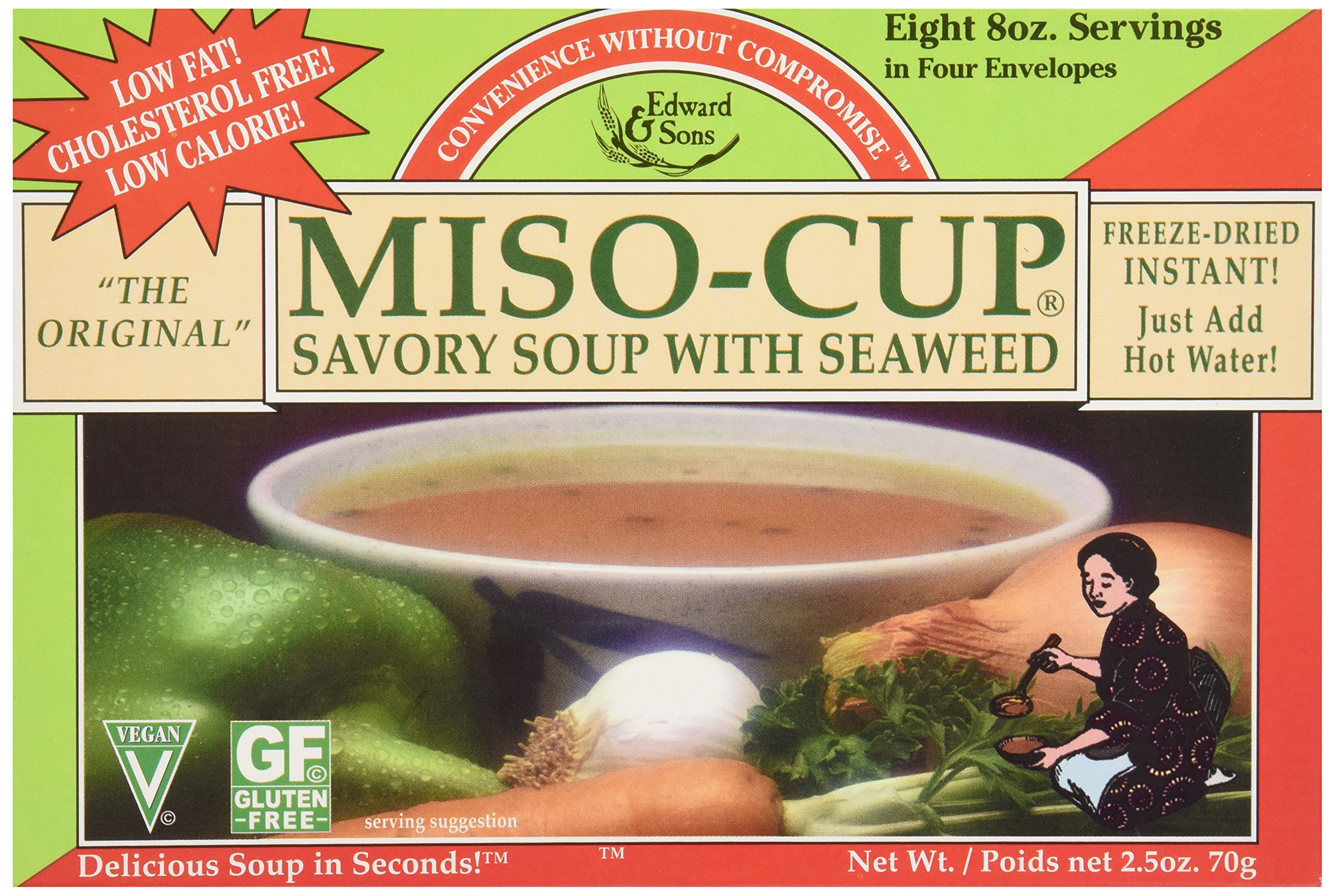 Edward & Sons Seaweed Miso Cup Instant Soup, 2.5 oz