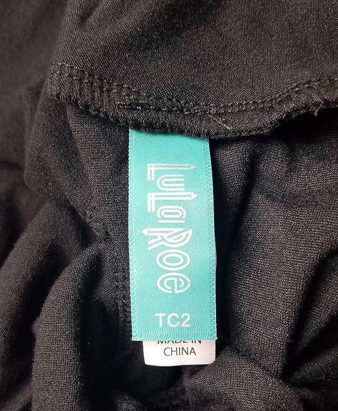 8a95cf1c2b2257 Lularoe Tall & Curvy 2 (TC2) Noir Collection Leggings at Amazon Women's  Clothing store:
