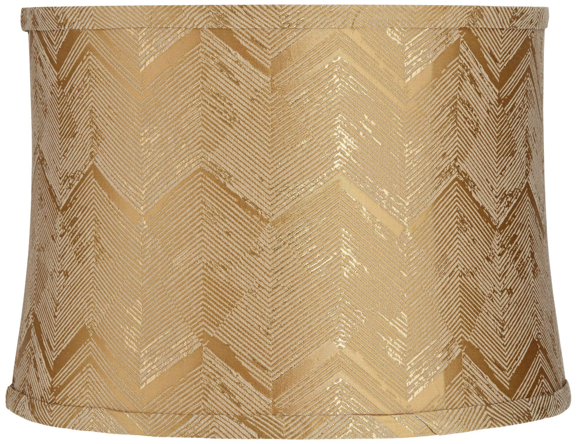 Gold Banqiao Fabric Drum Lamp Shade 13x14x10 (Spider) - Springcrest