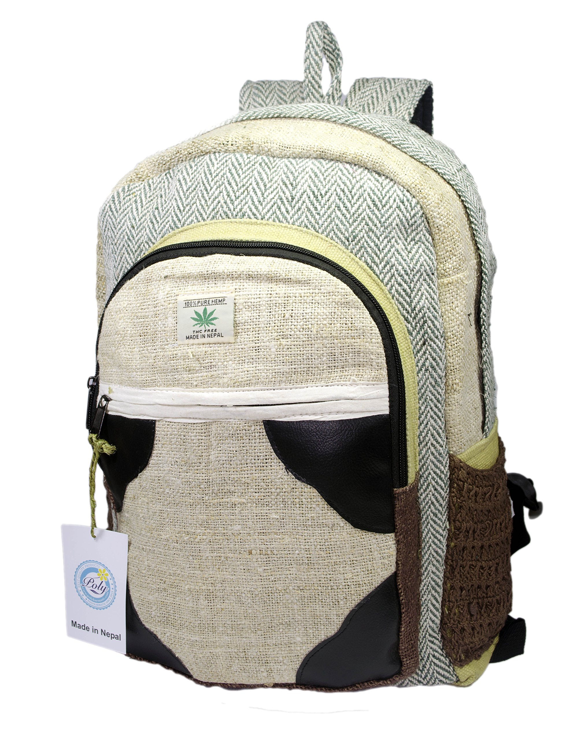 Hemp Handmade Himlayan Backpack ( THC FREE) (Type 1) by Polykarmatic (Image #1)