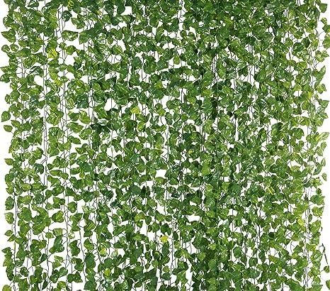 Yatim 12 Tiras De Seda Artificial De 78 Pies Follaje De Imitación De Hojas De Enredadera Colgante Estilo Jungla Decoración De Pared De Jardín De Hogar Kitchen Dining