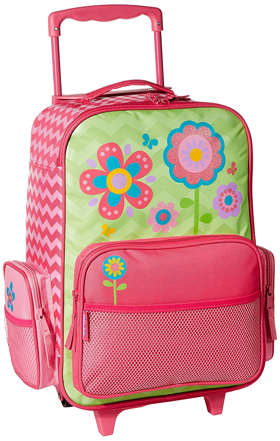 Stephen Joseph Little Girl's Classic Rolling Luggage, Accessory, Flower, No Size SJ-8001-45B