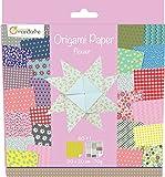 Decopatch - 52507O - Avenue Mandarine - Origami Paper Flower - 20 x 20 cm - 60 Feuilles - 70 g