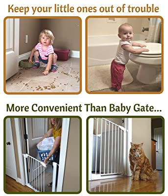 Image: Door Buddy Baby Proof Door Lock Plus Foam Finger Pinch Guard | Keep Baby Out of Room AND Prevent Door From Closing | Cats Enter Easily | No Tools Installation | Easy and Convenient to Use