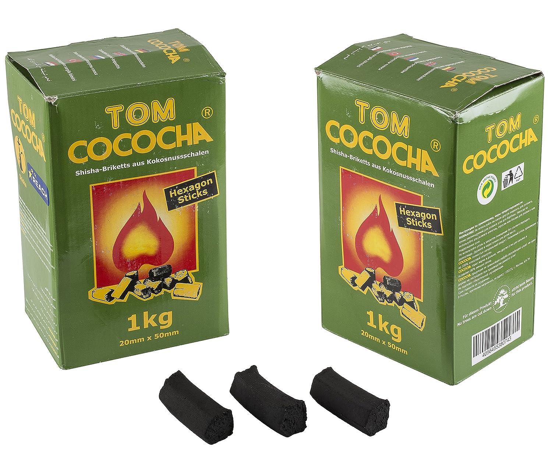 TOM Cococha Hexagon Sticks 1kg | Shisha Naturale carbone di cocco