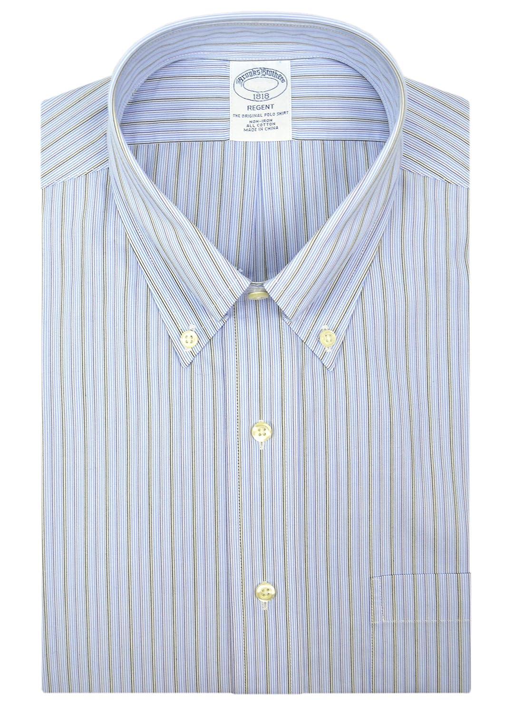 BROOKS BROTHERS - Polo de algodón para Hombre, diseño de Rayas ...
