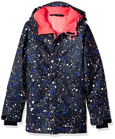 7caa634d7 Under Armour Outerwear Youth Girls Cold Gear Infrared Power Line Ins Jacket,  Black/Penta