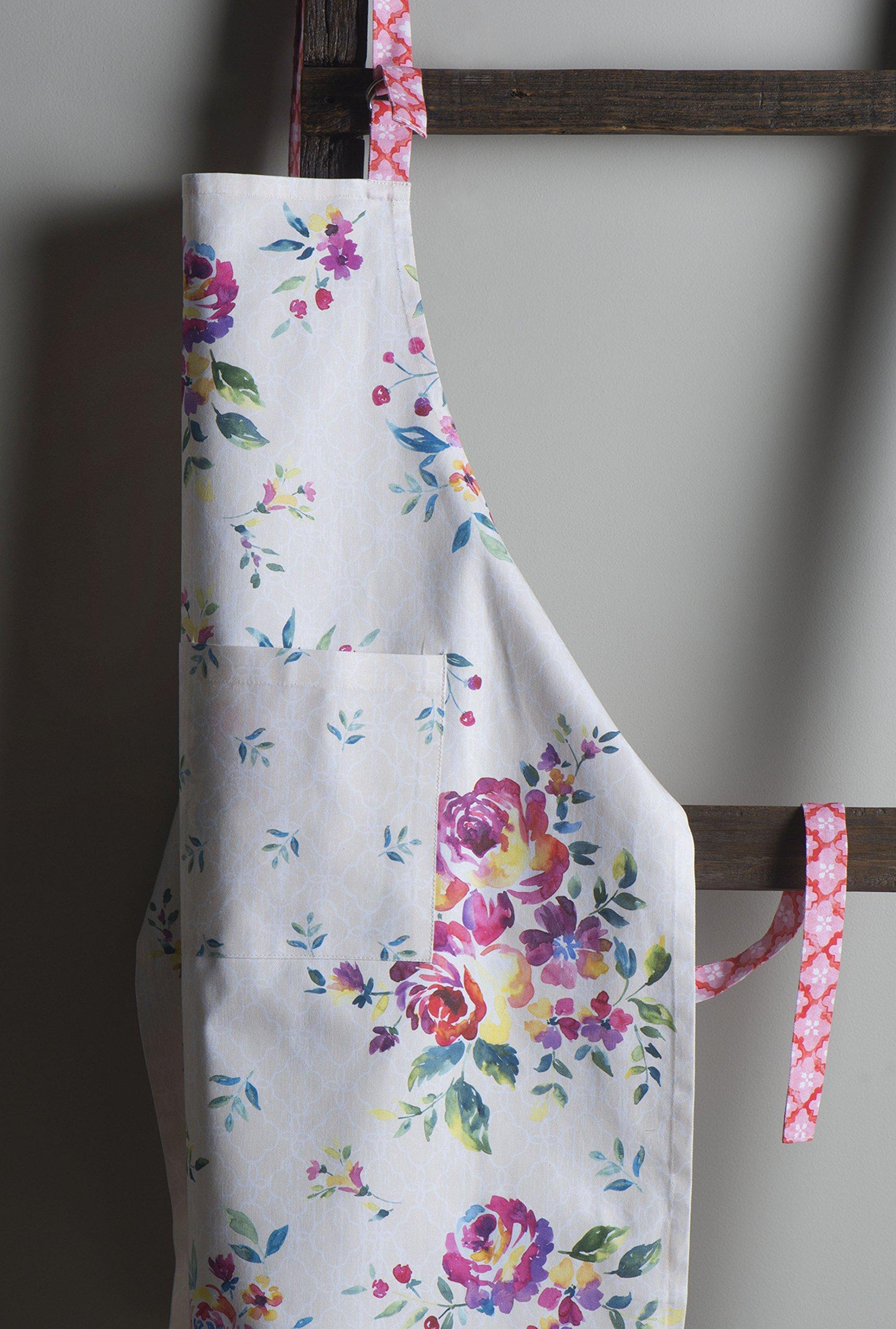 Maison d' Hermine Rose Garden 100% Cotton Apron with an adjustable neck & Visible center pocket 27.50 Inch by 31.50 Inch by Maison d' Hermine (Image #2)