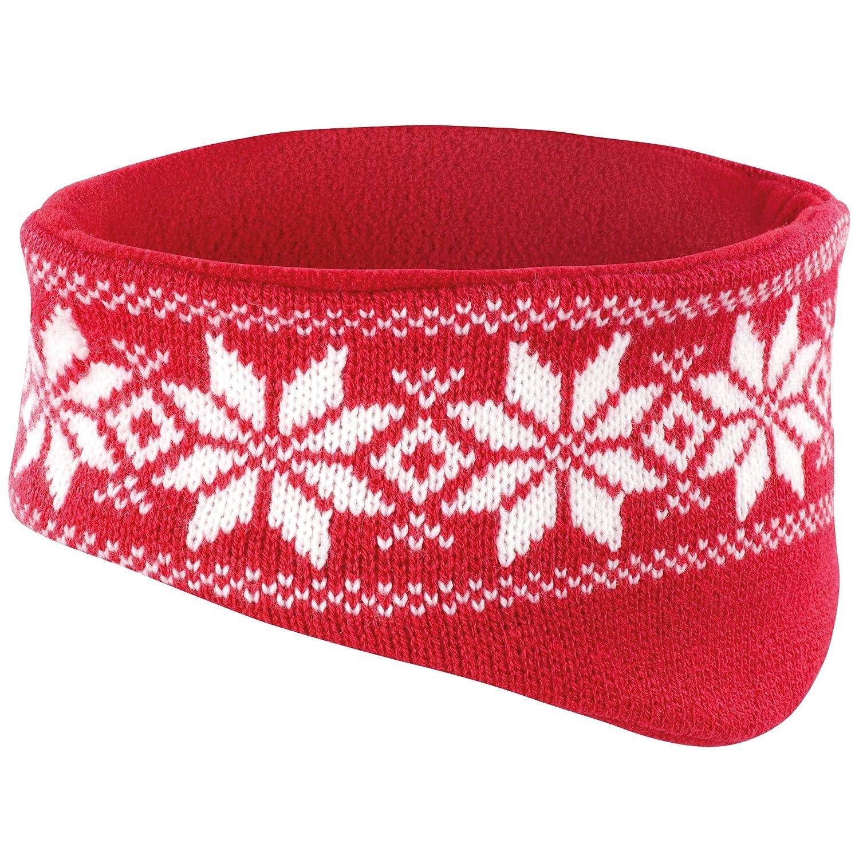 RESULT FAIR ISLE HEAD WARMER HEADBAND SKI HAT - 5 COLOURS Result Headwear UTBC947_1
