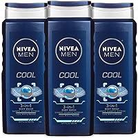 3-Pack Nivea Men Cool 3-in-1 Body Wash 16.9 oz