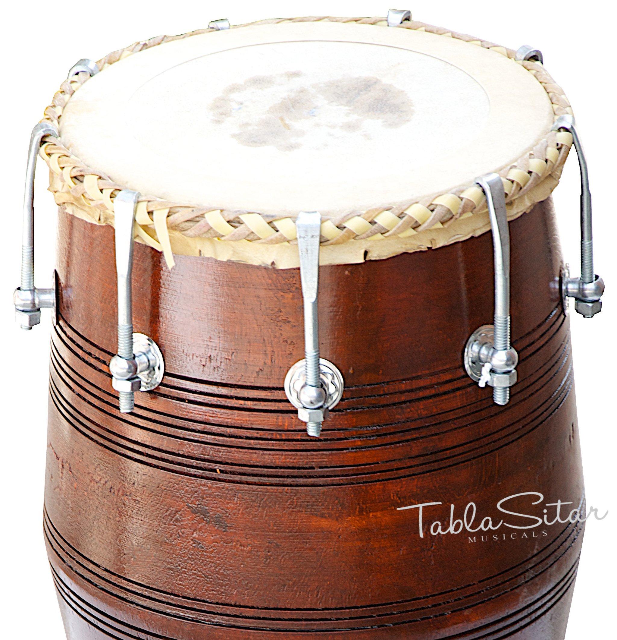 Mahraja Musicals Dholak (Dholki), Special Gajra, Mango Wood, Bolt-tuned, Padded Bag, Spanner, Dholak Drum(PDI-BGA) by Maharaja Musicals (Image #6)