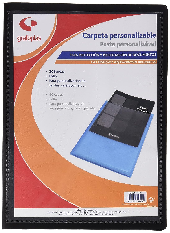 formato protocollo Portalistini con 30 buste Grafoplas 1475510 colore: nero con copertina in polipropilene