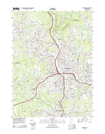 Amazon.com: Topographic Map Poster - Waterbury, CT TNM GEOPDF 7.5X7 ...