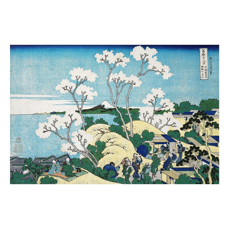 Stampa su vetro - Katsushika Hokusai - The Fuji from Gotenyama in Shinagawa - orizzontale 2:3 quadri da parete decorazioni murali decorazioni vetro stampa su vetro quadri in vetro per pareti quadri in vetro da parete, Dimensione: 40cm x 60cm PPS. Imaging G