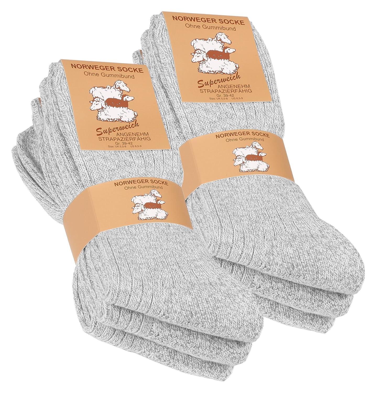6 Paar Norweger Socken mit Wolle weich gepolsterter Plüschsohle Wintersocken Herrensocken mit Polstersohle 2012VCA