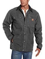 Carhartt Men's Quilted Flannel Lined Non Hooded Sandstone Multi Pocket Jacket