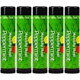 Healthy Host Beeswax Lip Care with Shea Butter, Peppermint Essential Oil - 5 Pack