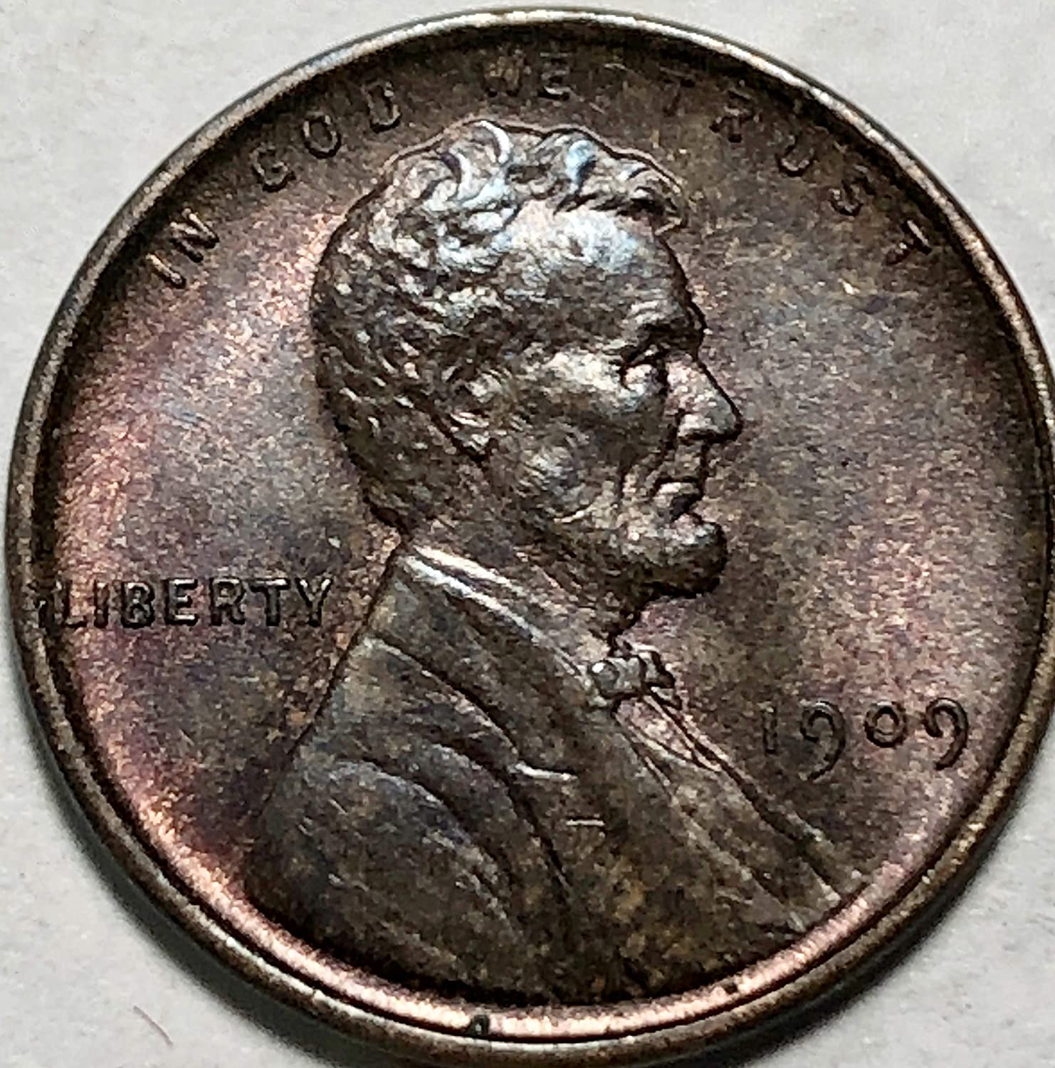 **FINE**    Key First Year  Coin 1909 P Lincoln Wheat Cent