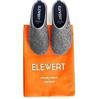 ELEWERT® - Natural - Zapatillas de Estar por casa, Hechas en España, Confort, Unisex, Interior, Exterior, Suela de Caucho, Plantilla extraíble reciclada W1-Designed IN Europe. Tallas de la 37 a la 47