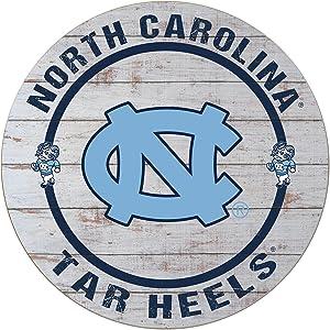 """KH Sports Fan 20""""x20"""" (Chapel Hill) Weathered North Carolina Tar Heels Helmet Circle Wall Sign"""