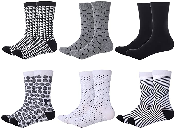 7aa9f0e25219 Image Unavailable. Image not available for. Color: Mio Marino Womens Dress  Socks - Colorful Patterned Cotton Socks for Women - Fashion ...