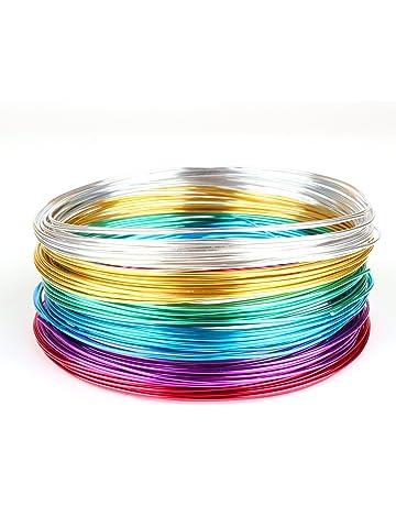 creac Raft Juego de alambre de aluminio Basic 6 colores, 30 m x (5 m