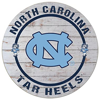 KH Sports Fan 20 x20  (Chapel Hill) Weathered North Carolina Tar Heels Helmet Circle Wall Sign