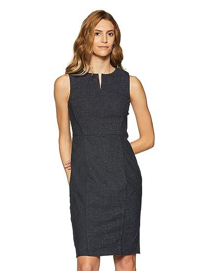 97ce5eb32e0 Van Heusen Women A-Line Knee-Long Dress  Amazon.in  Clothing   Accessories