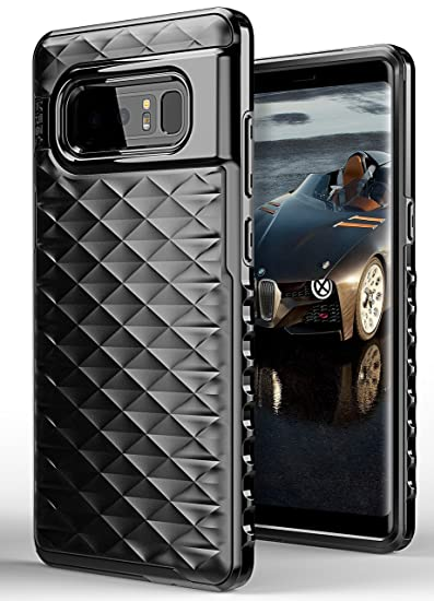 timeless design f8480 0aa8a ELV Case for Galaxy Note 8, Protective Heavy Duty Armor Full Body Hybrid  Case Cover for Samsung Galaxy Note 8 (Black)