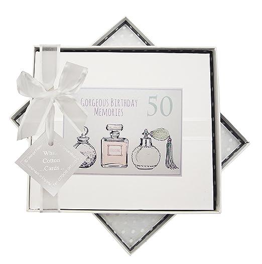 White Cotton Cards 50th cumpleaños, Libro de visitas ...