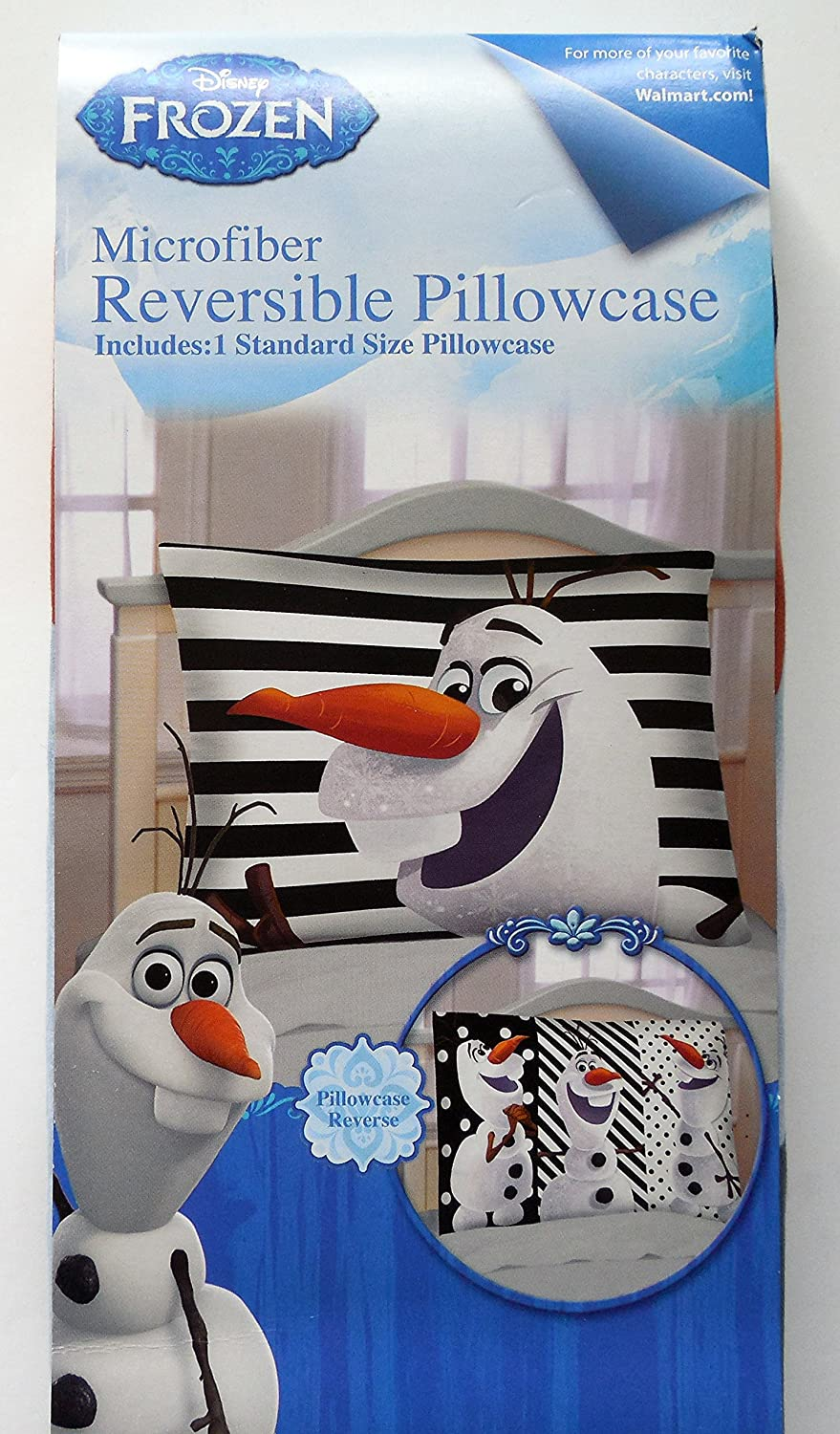 Disneys Frozen Reversible Olaf Pillowcase