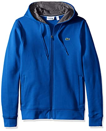 8af03dc1b6d50c Amazon.com  Lacoste Men s Full Zip Hoodie Fleece Sweatshirt  Clothing