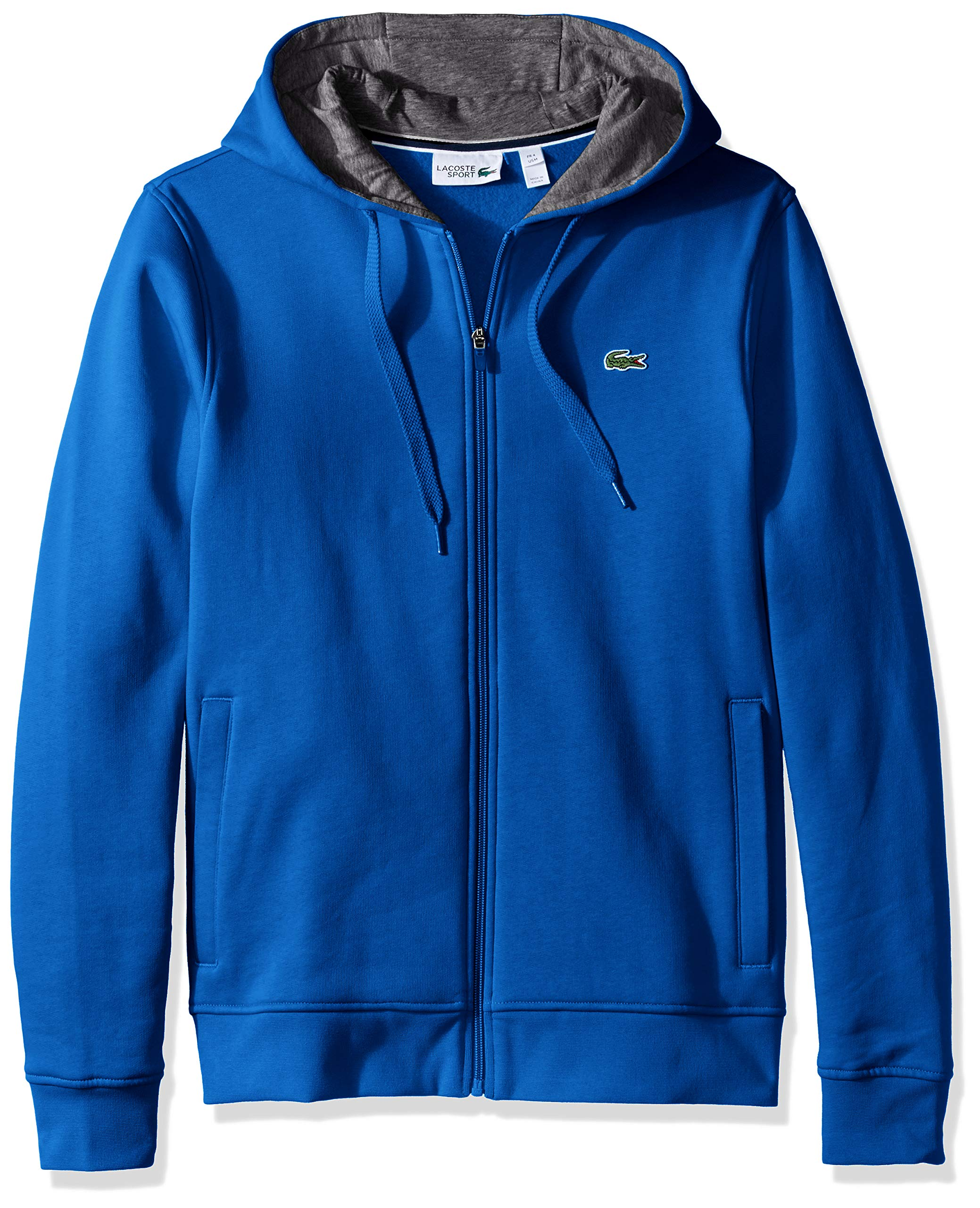 Lacoste Men's Full Zip Hoodie Fleece Sweatshirt, Blue Royal/Pitch, Small