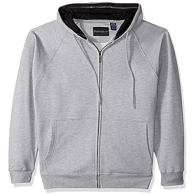 AquaGuard Men's Rugged Wear Thermal-Lined Full-Zip Hoodie, HTHR Grey/Blac, 4X-Large at Men's Clothing store
